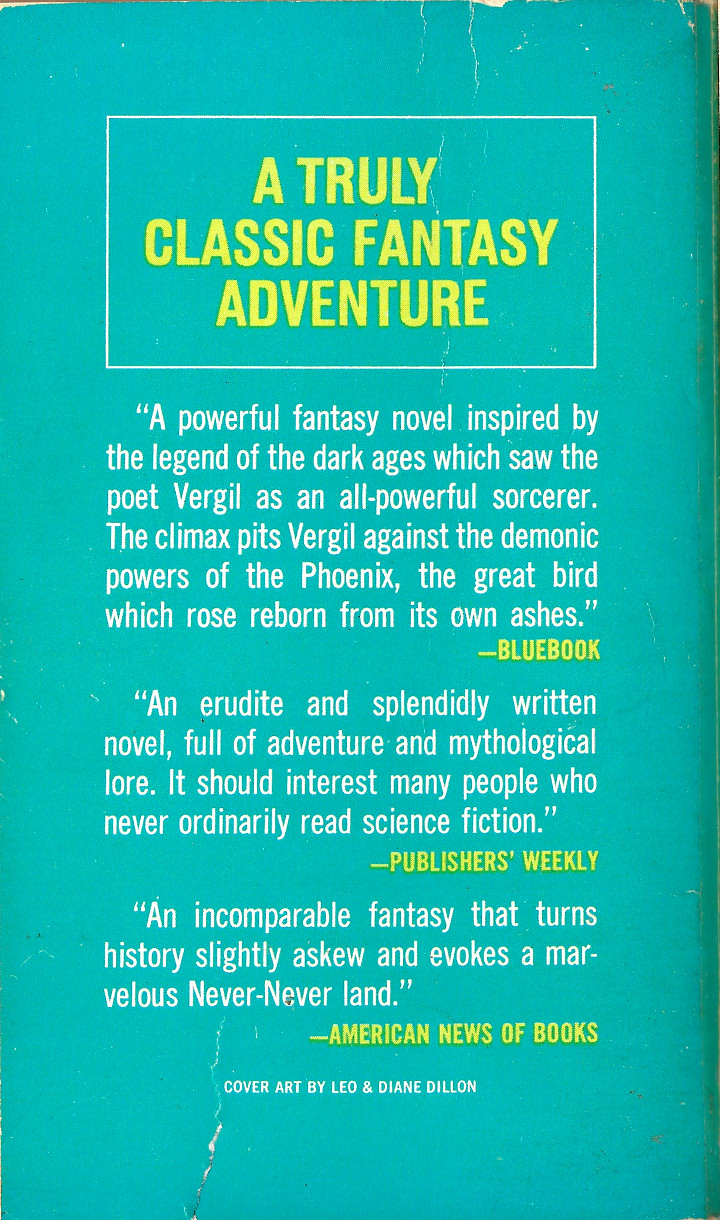 The Phoenix and the Mirror by Avram Davidson - Back Cover