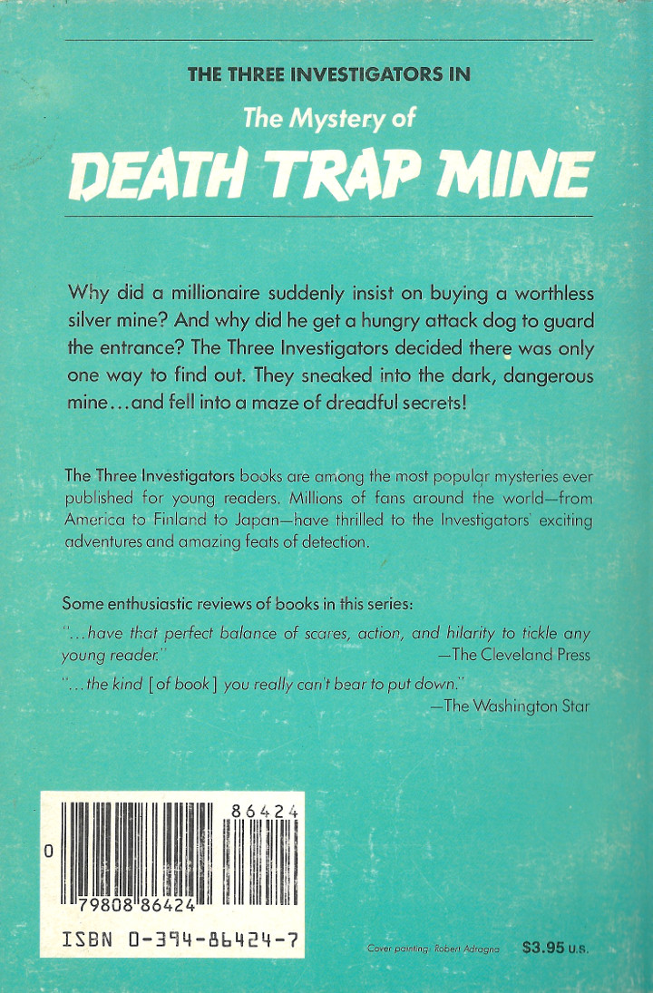 The Mystery of Death Trap Mine by M. V. Carey