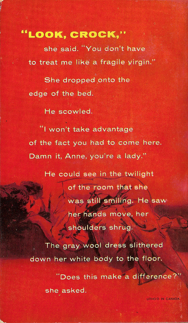 Crockett's Woman by Eric Hatch - Back Cover
